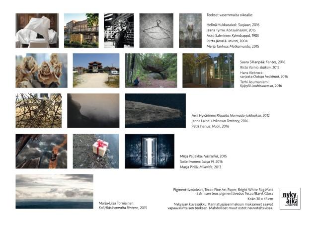 Valokuvakeskus Nykyaika ry:n 16 vedoksen kuvasalkku